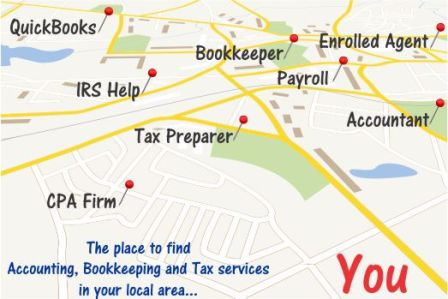 The place to find Accounting, Bookkeeping and Tax services in your local area